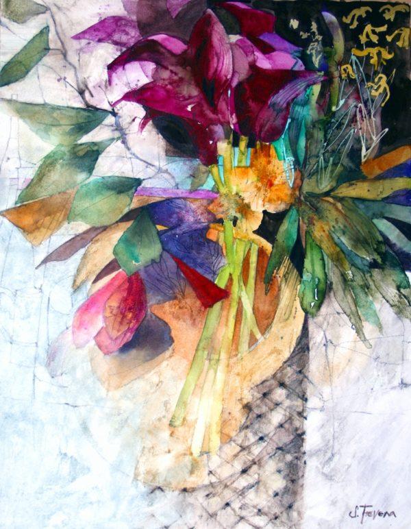 Deep Purple Lilies print