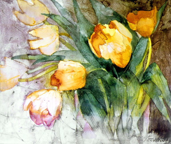 Pale Orange Tulips Print