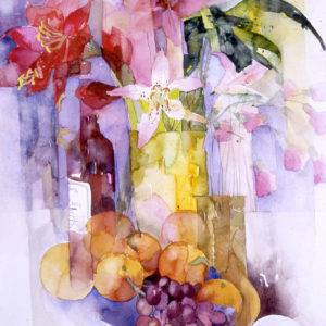 Still Life with Grapes & Oranges print