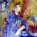 Woman Wearing a Golden Crown